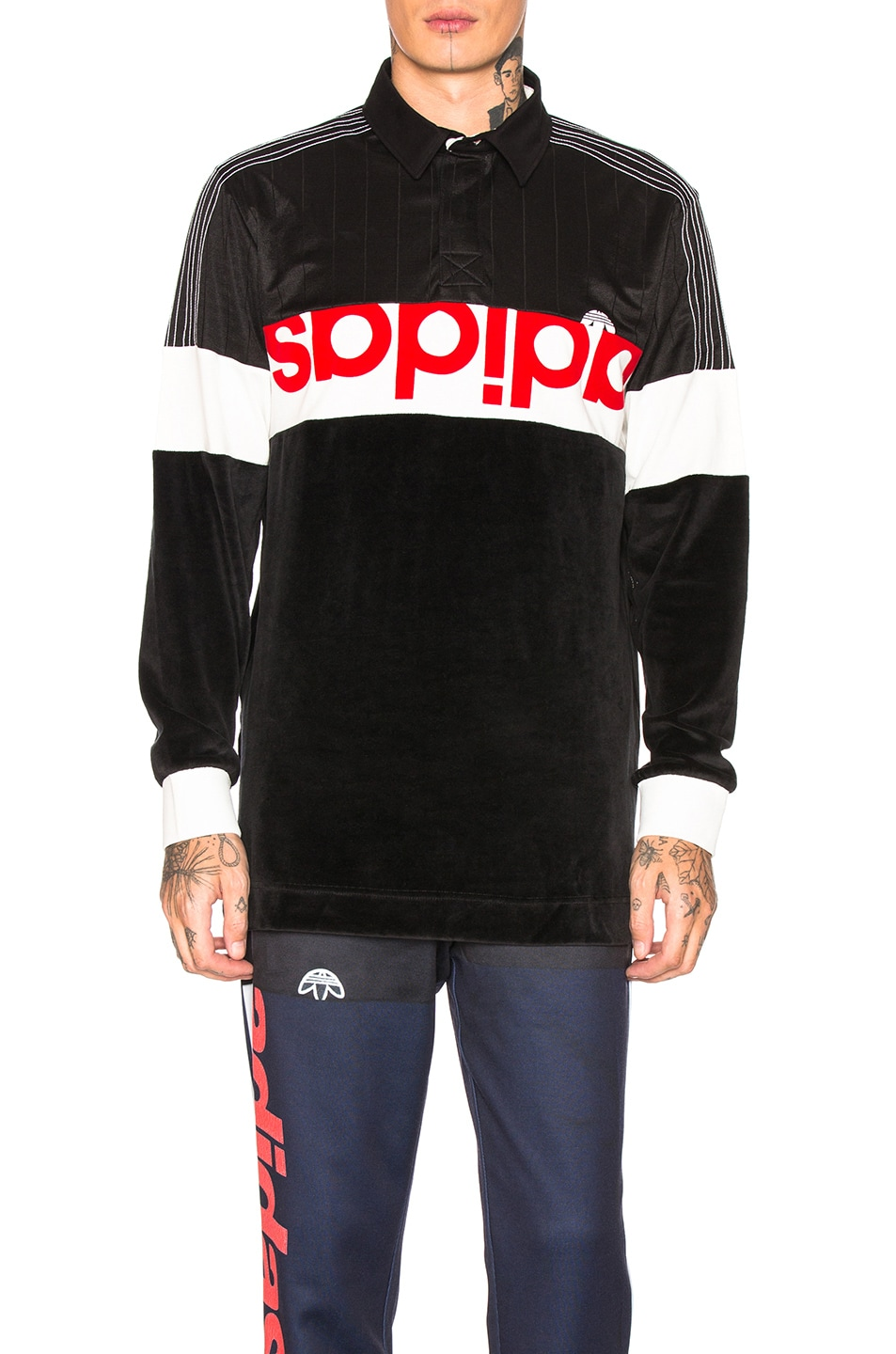 Image 1 of adidas by Alexander Wang Disjoin Jersey in Black & Core White
