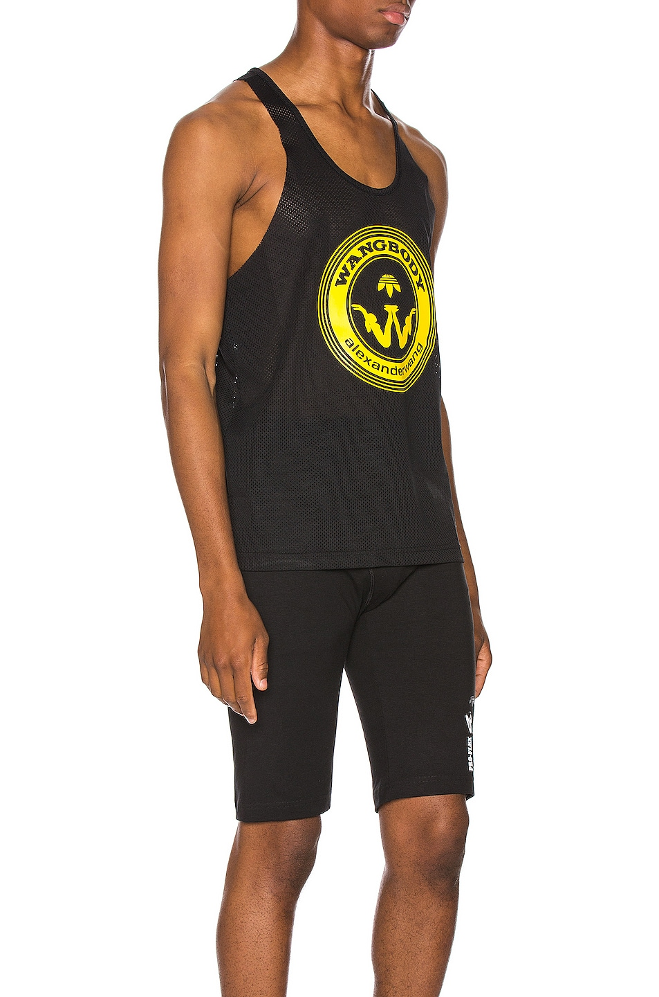 Image 2 of adidas by Alexander Wang Graphic Tank Tee in Black