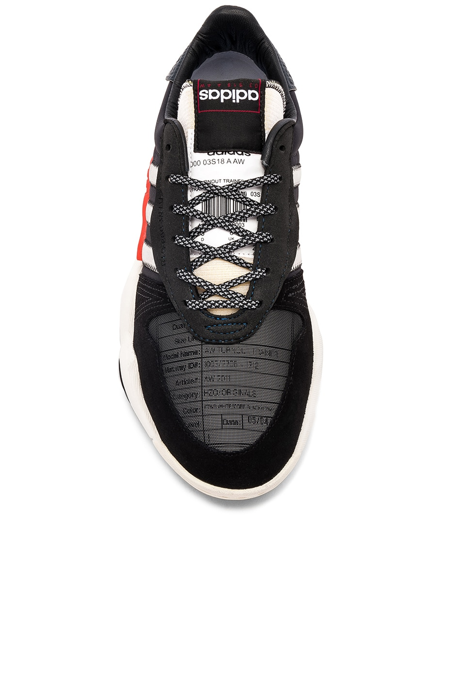 Image 4 of adidas by Alexander Wang Trainers in Core Black & Core White & Borang