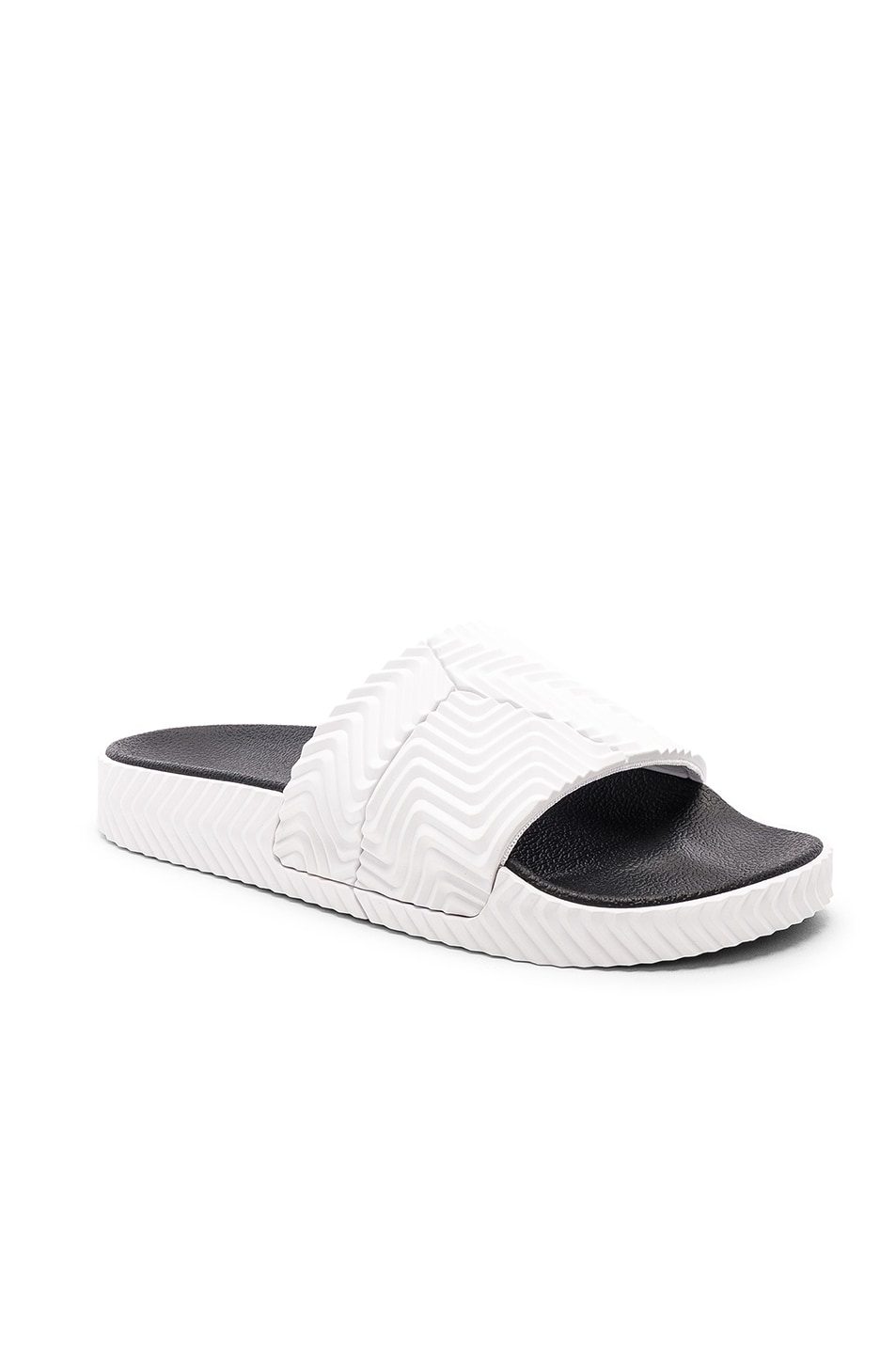 new concept 18466 eeb13 Image 1 of adidas by Alexander Wang Adilette Slides in White