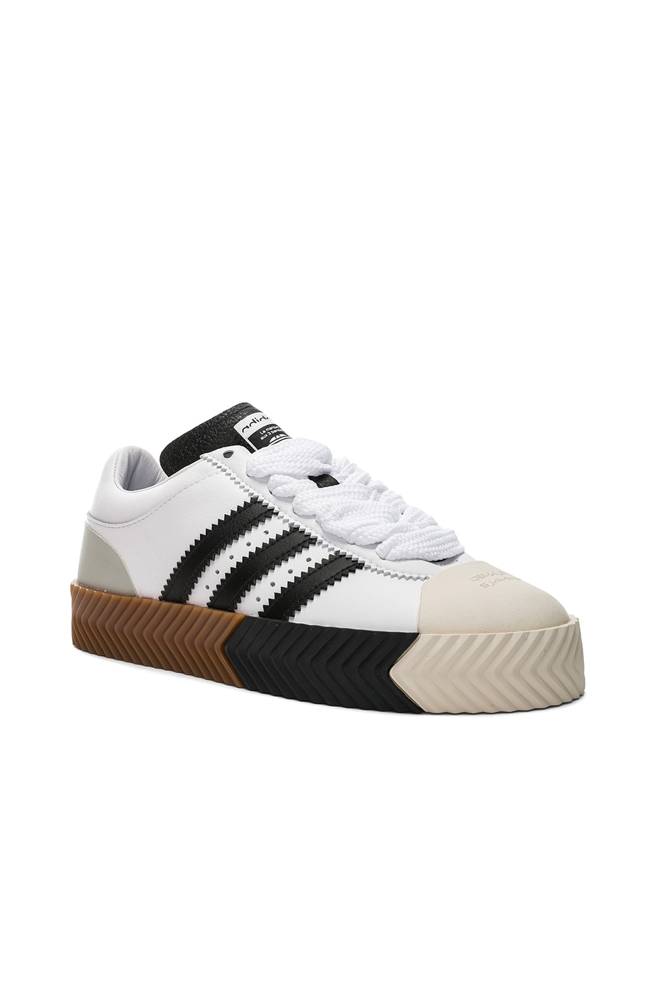f6453a0a4d77 Image 1 of adidas by Alexander Wang Skate Super in White   Core Black   Tech