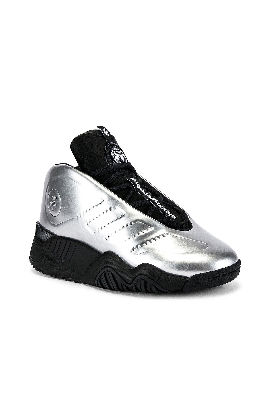 Image 1 of adidas by Alexander Wang Futureshell Sneaker in Platinum & Black