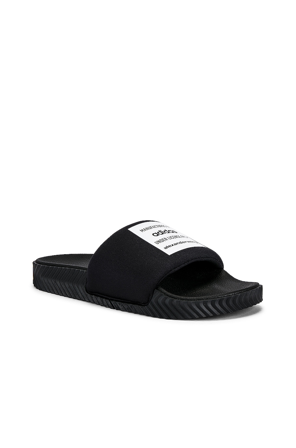 Image 1 of adidas by Alexander Wang in Black & Black & White in Black & Black & White