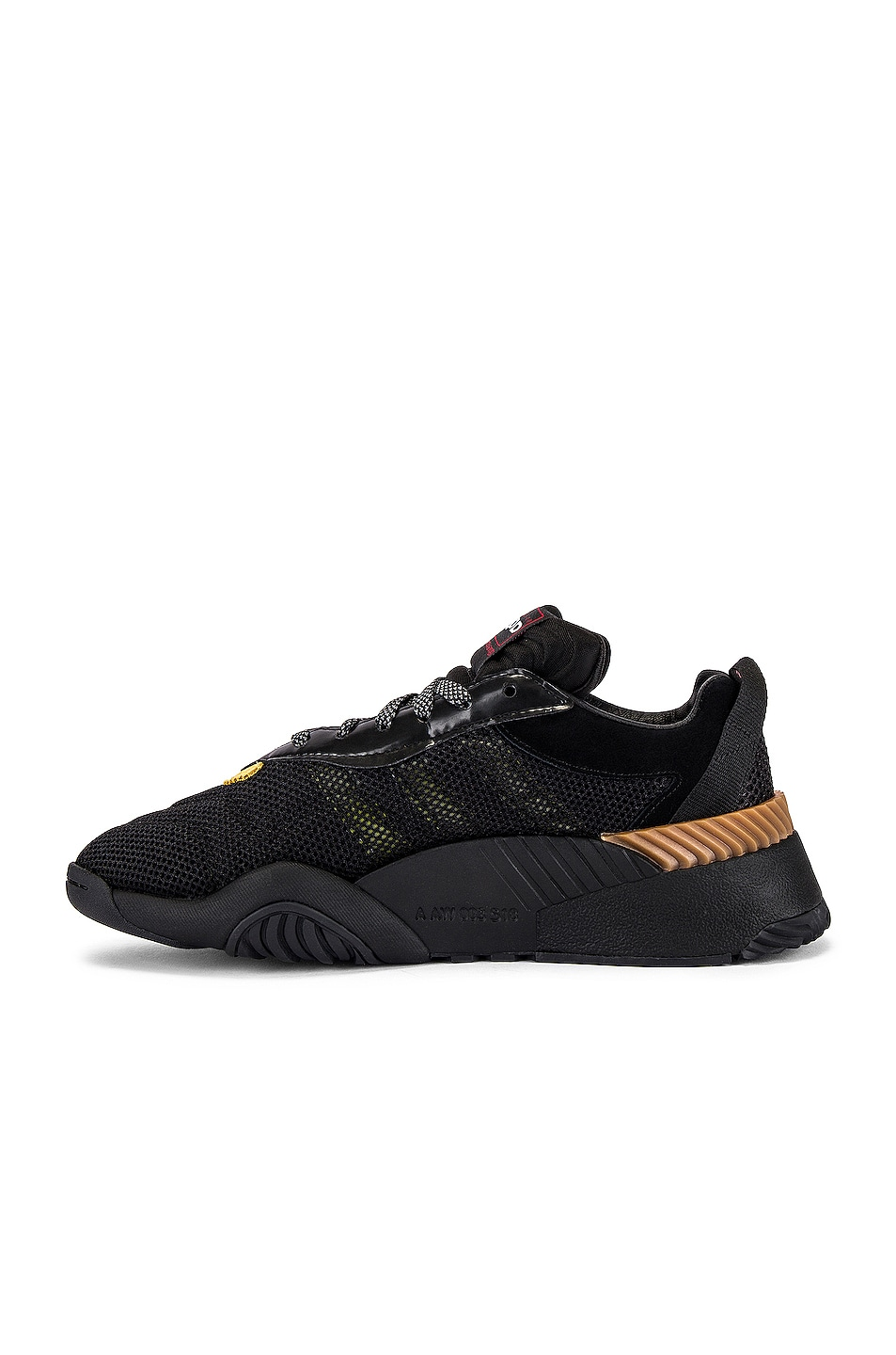 Image 5 of adidas by Alexander Wang Turnout Trainer Sneaker in Core Black & Yellow & Light Brown