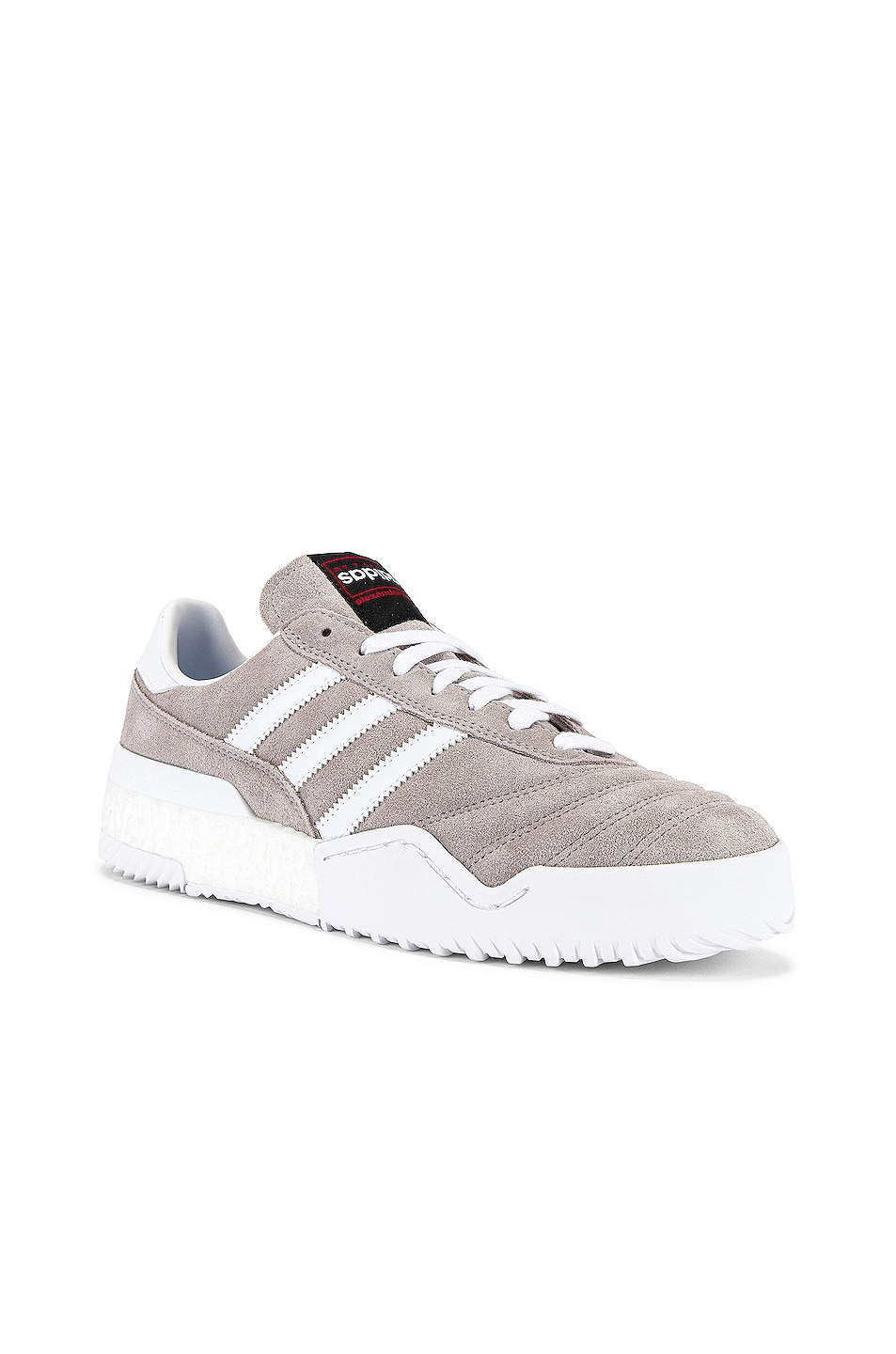 Image 1 of adidas by Alexander Wang Bball Soccer Sneaker in Clear Granite & Core White