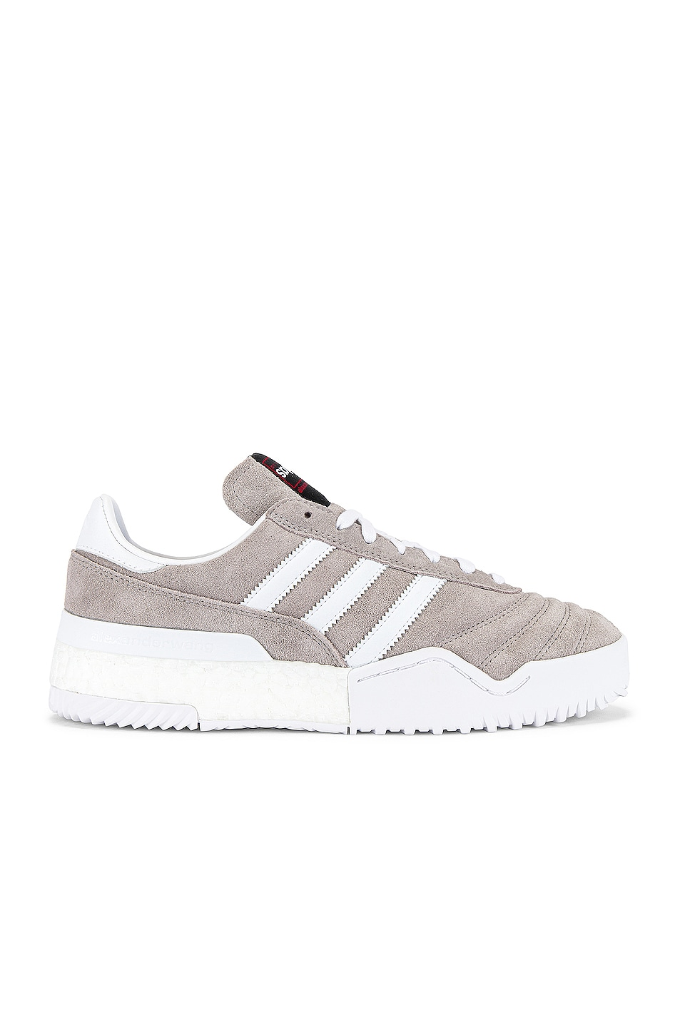 Image 2 of adidas by Alexander Wang Bball Soccer Sneaker in Clear Granite & Core White