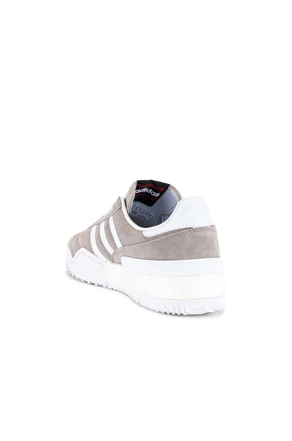 Image 3 of adidas by Alexander Wang Bball Soccer Sneaker in Clear Granite & Core White