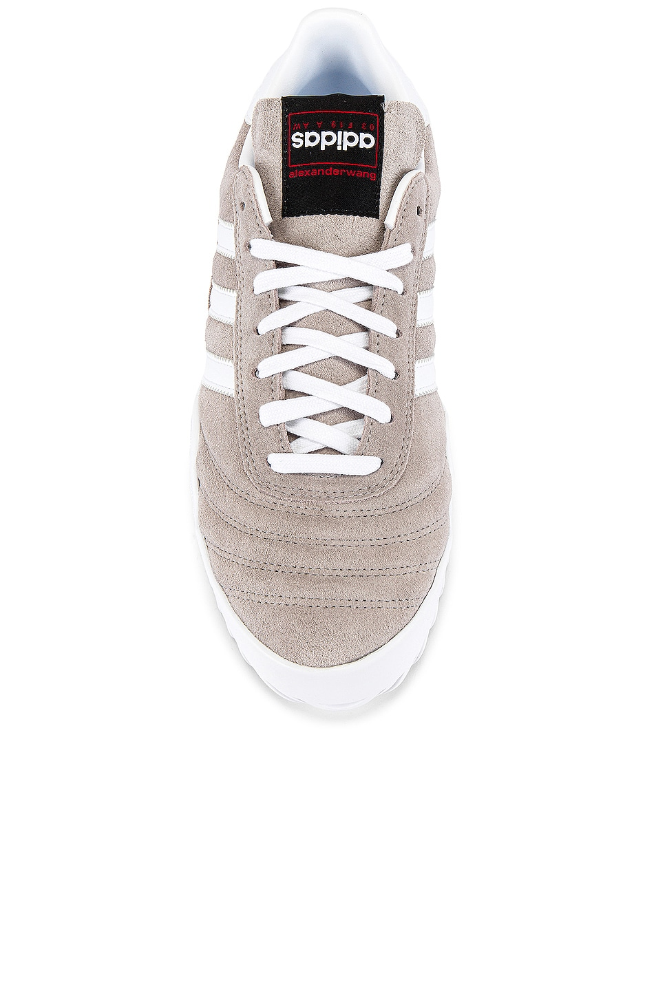 Image 4 of adidas by Alexander Wang Bball Soccer Sneaker in Clear Granite & Core White