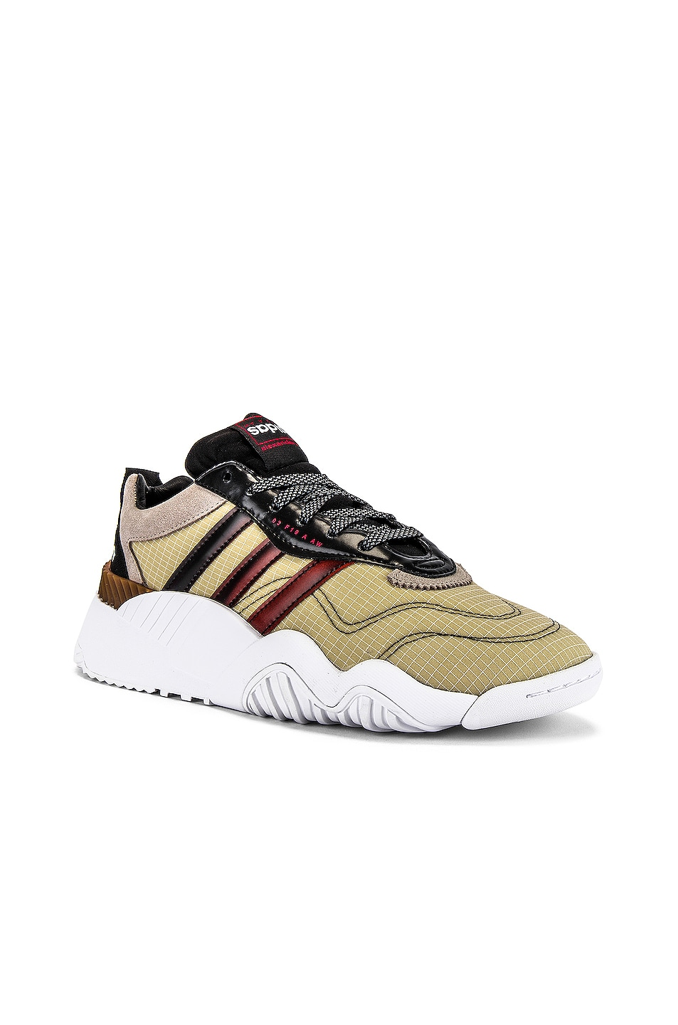 Image 1 of adidas by Alexander Wang Turnout Trainer Sneaker in Core Black & Light Brown & Bright Red
