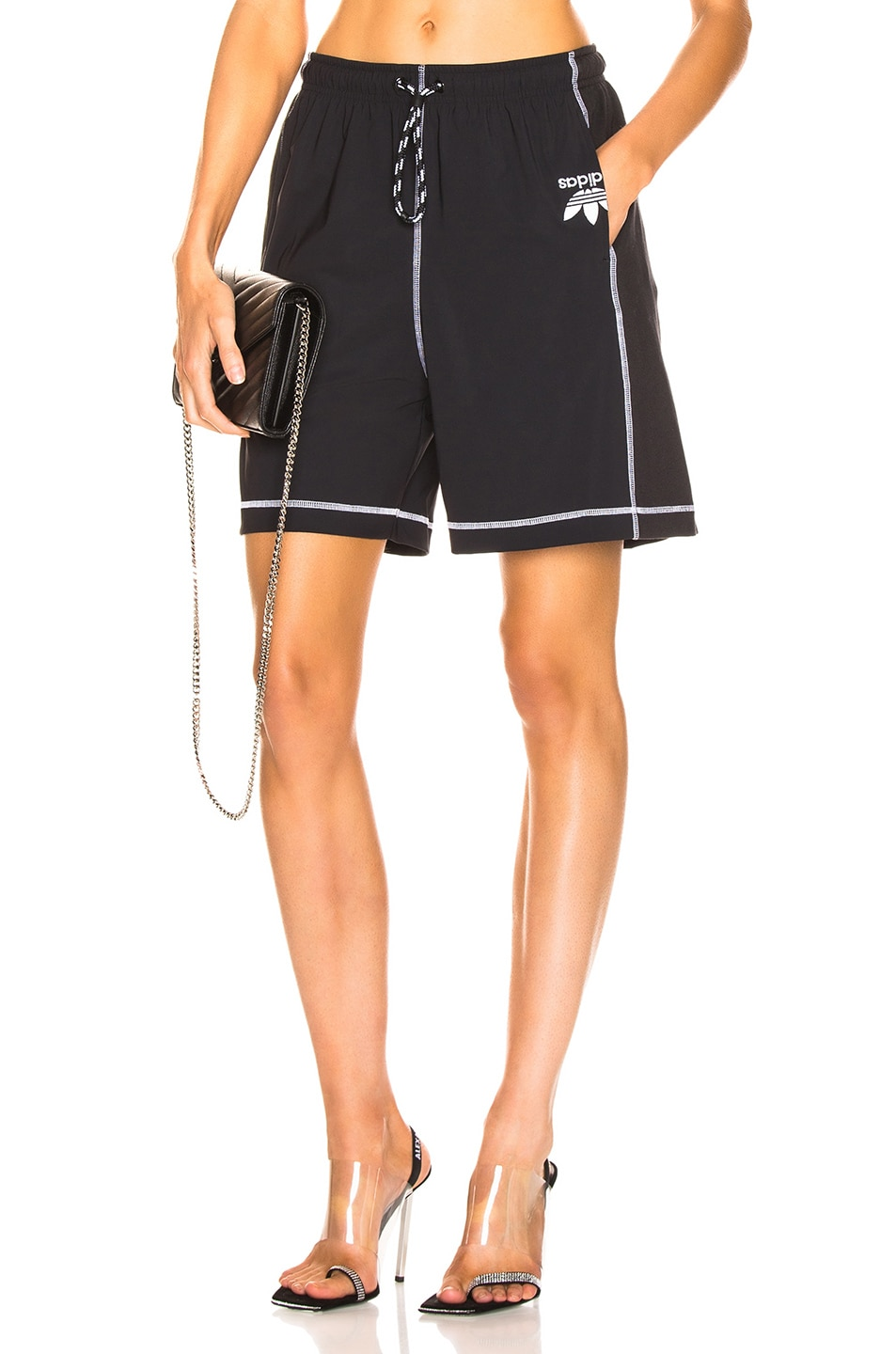 Image 1 of adidas by Alexander Wang Short in Black & White