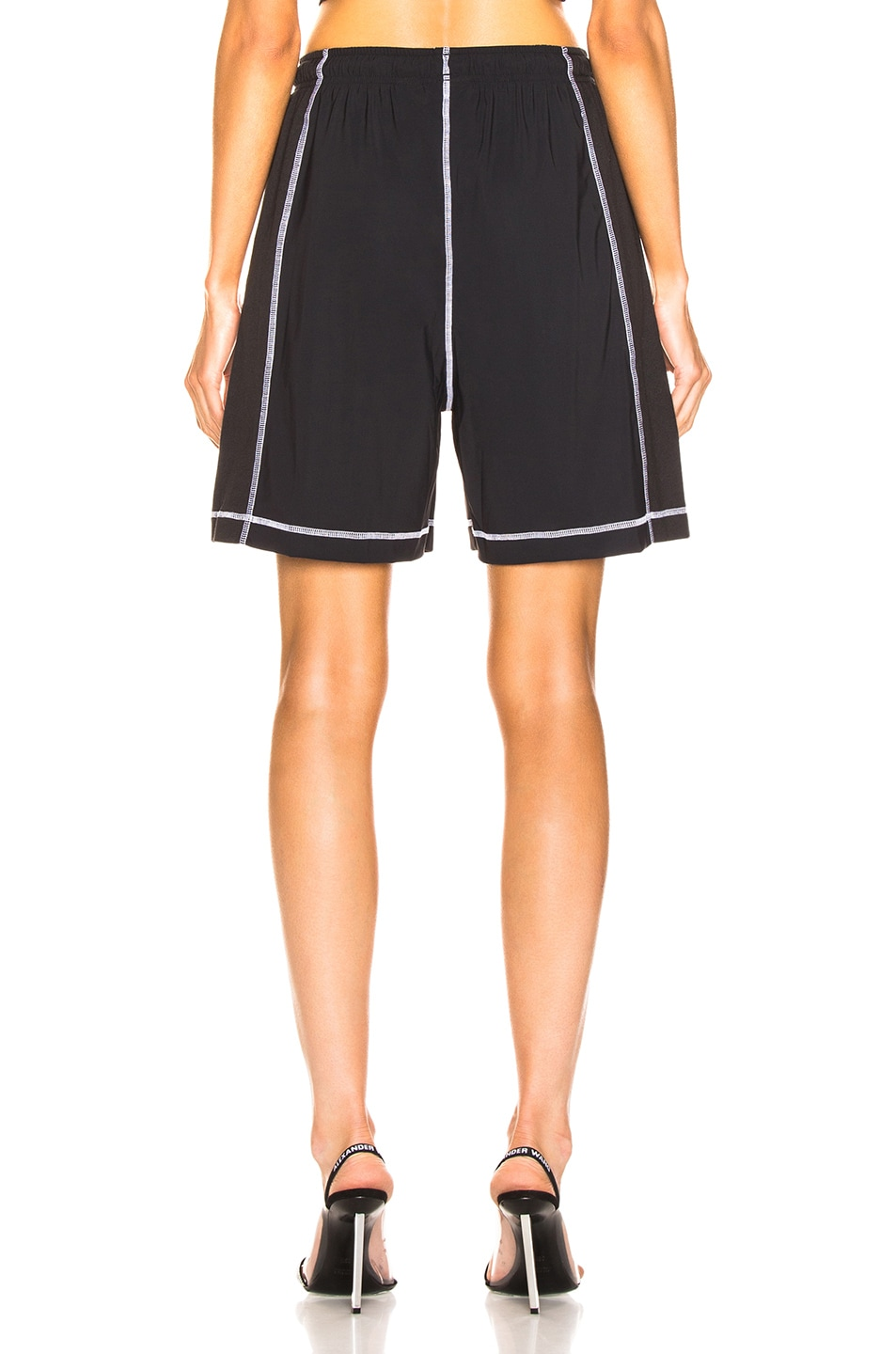Image 4 of adidas by Alexander Wang Short in Black & White