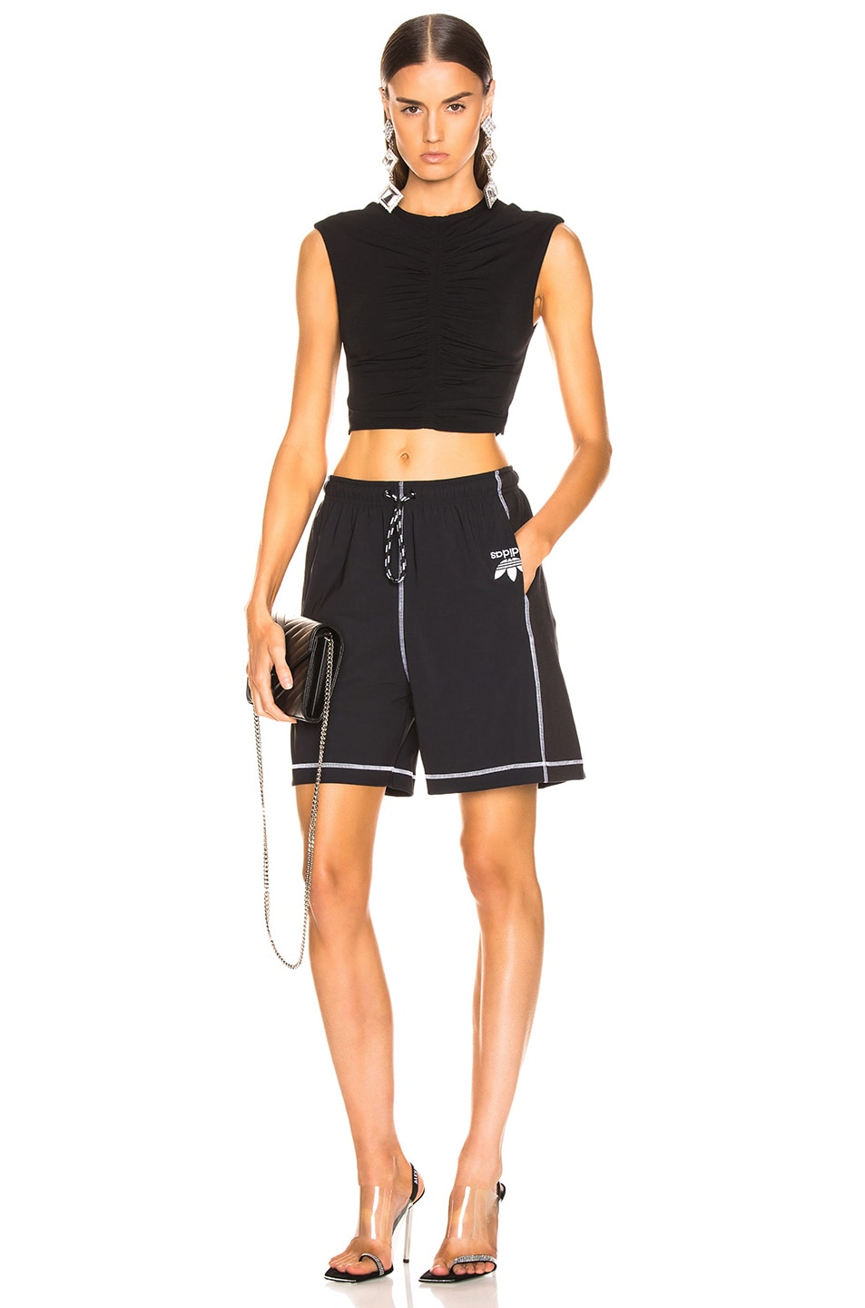 Image 5 of adidas by Alexander Wang Short in Black & White