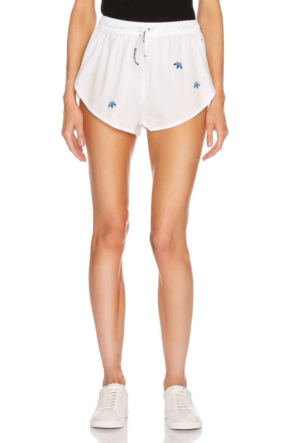 Image 1 of adidas by Alexander Wang Logo Shorts in Core White