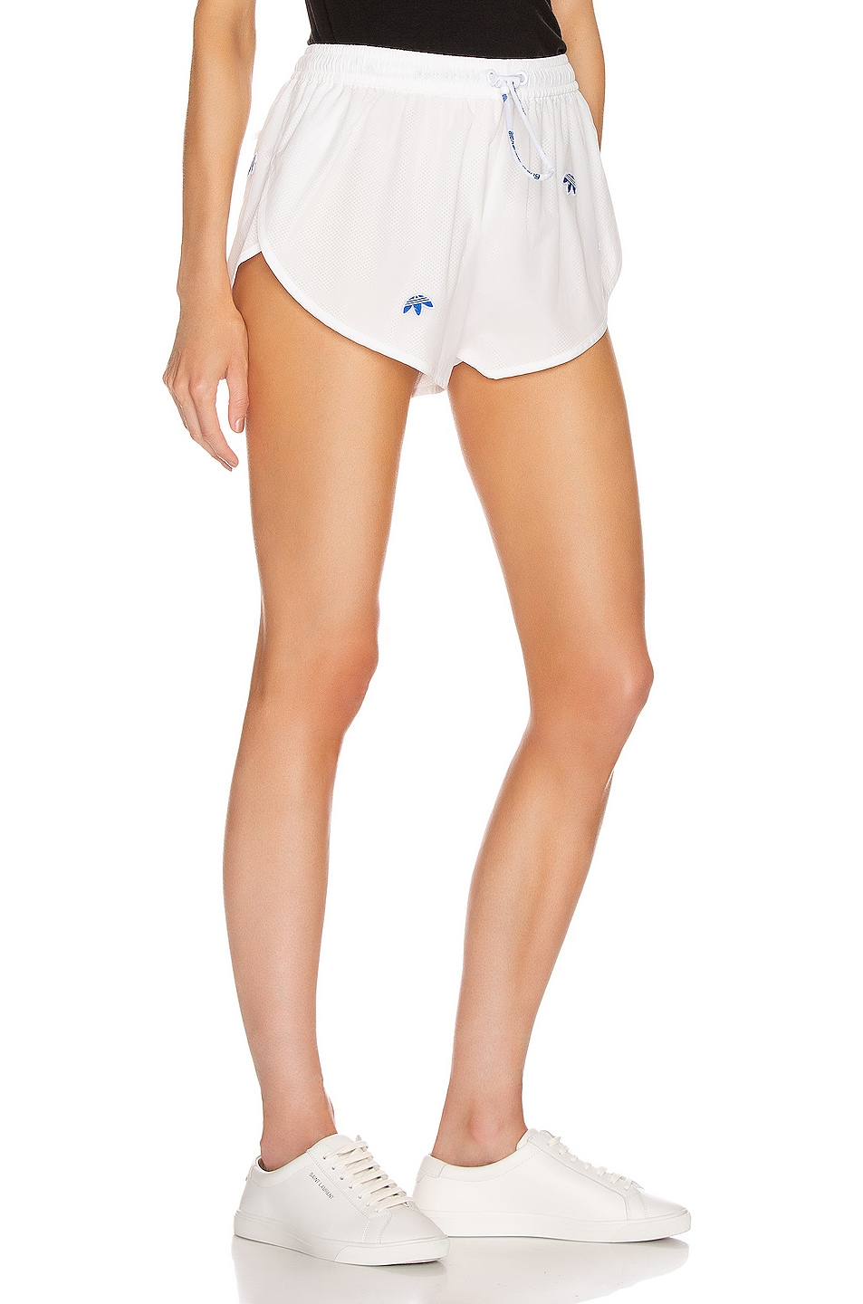 Image 2 of adidas by Alexander Wang Logo Shorts in Core White