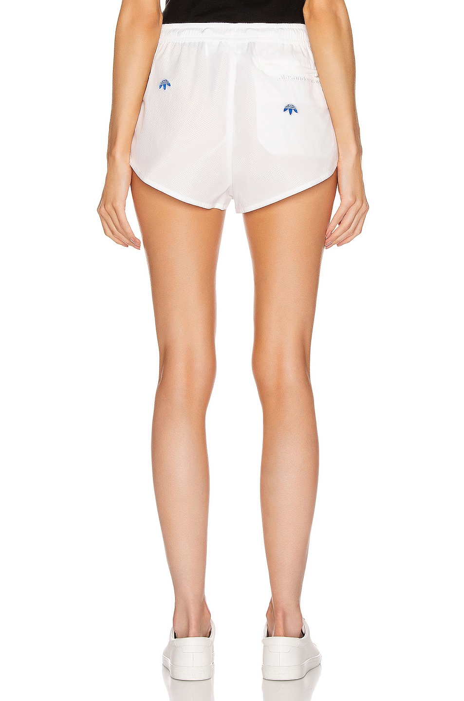 Image 3 of adidas by Alexander Wang Logo Shorts in Core White