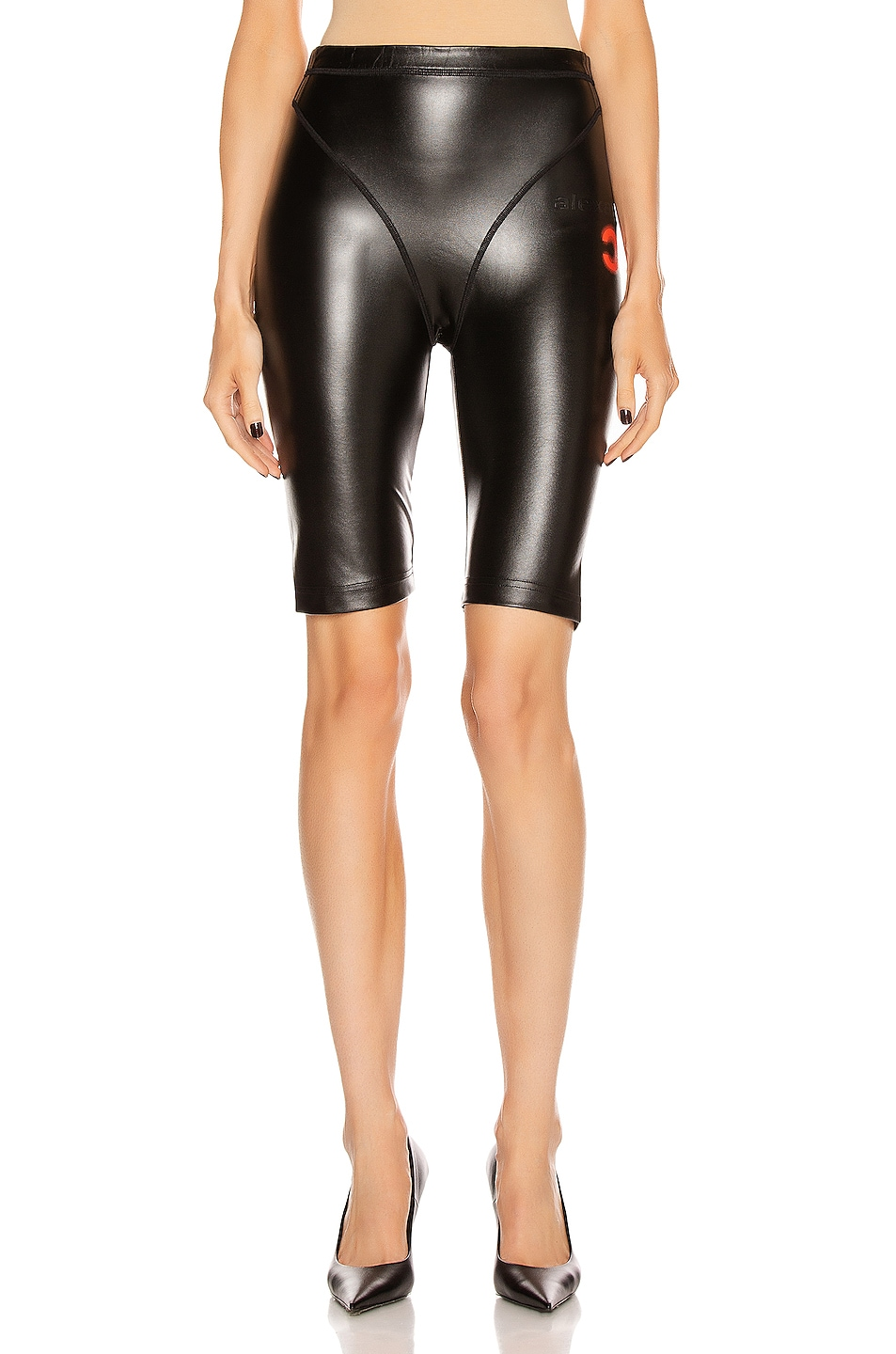 Image 2 of adidas by Alexander Wang PL Shorts in Black