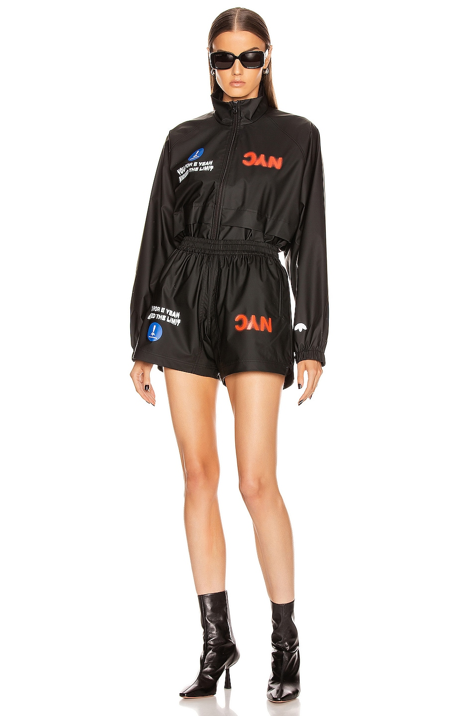 Image 5 of adidas by Alexander Wang AW Shorts in Black