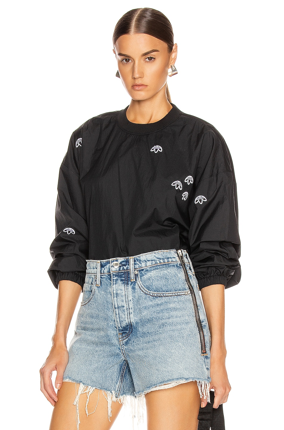 Image 1 of adidas by Alexander Wang Crewneck Sweater in Black