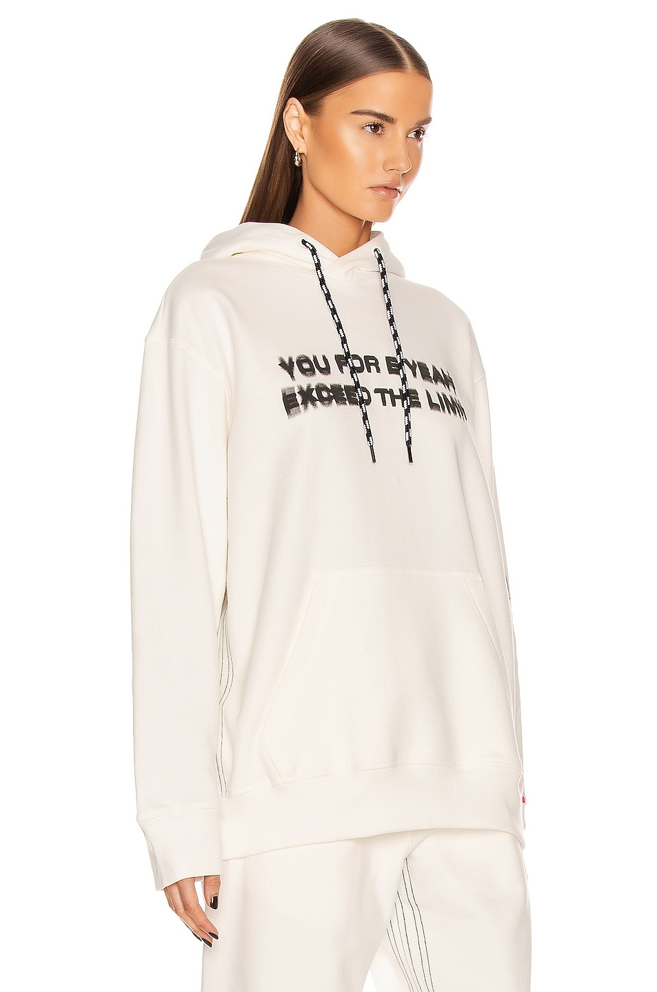 Image 2 of adidas by Alexander Wang Graphic Hoodie in Core White