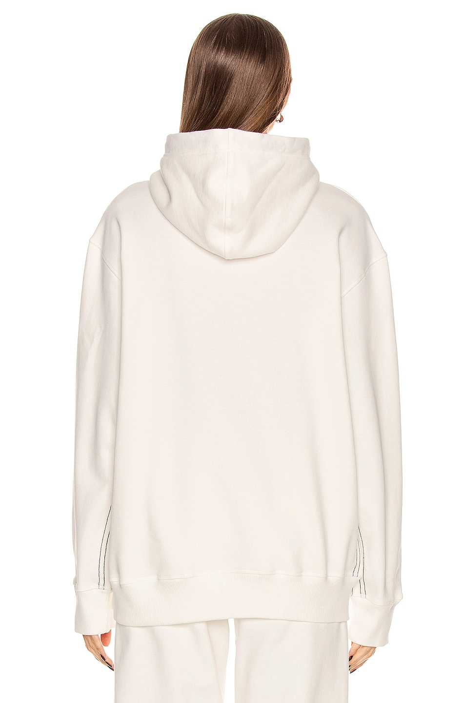 Image 4 of adidas by Alexander Wang Graphic Hoodie in Core White