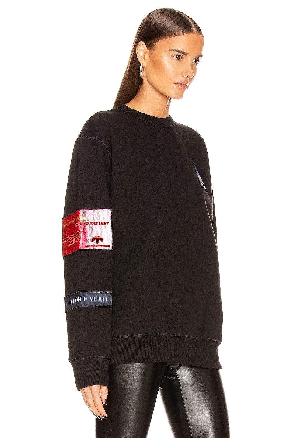 Image 2 of adidas by Alexander Wang Flex2Club Crew Neck Sweater in Black