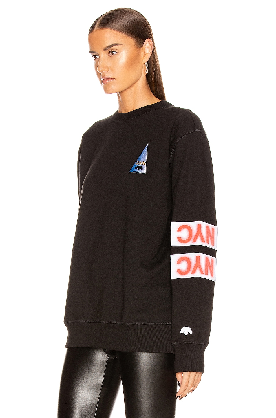 Image 3 of adidas by Alexander Wang Flex2Club Crew Neck Sweater in Black