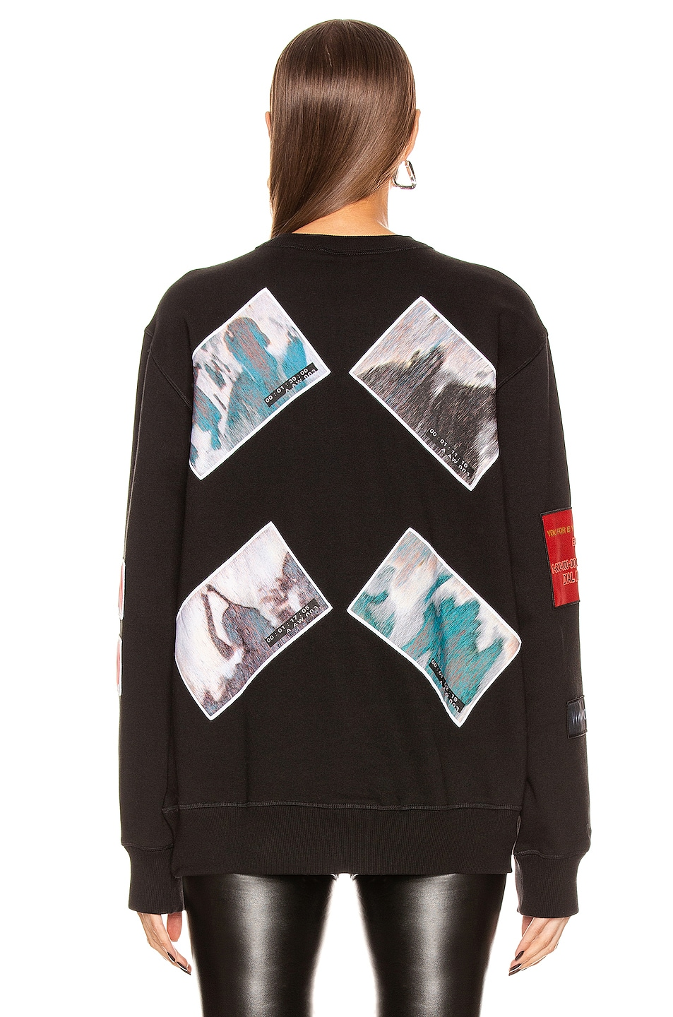 Image 4 of adidas by Alexander Wang Flex2Club Crew Neck Sweater in Black