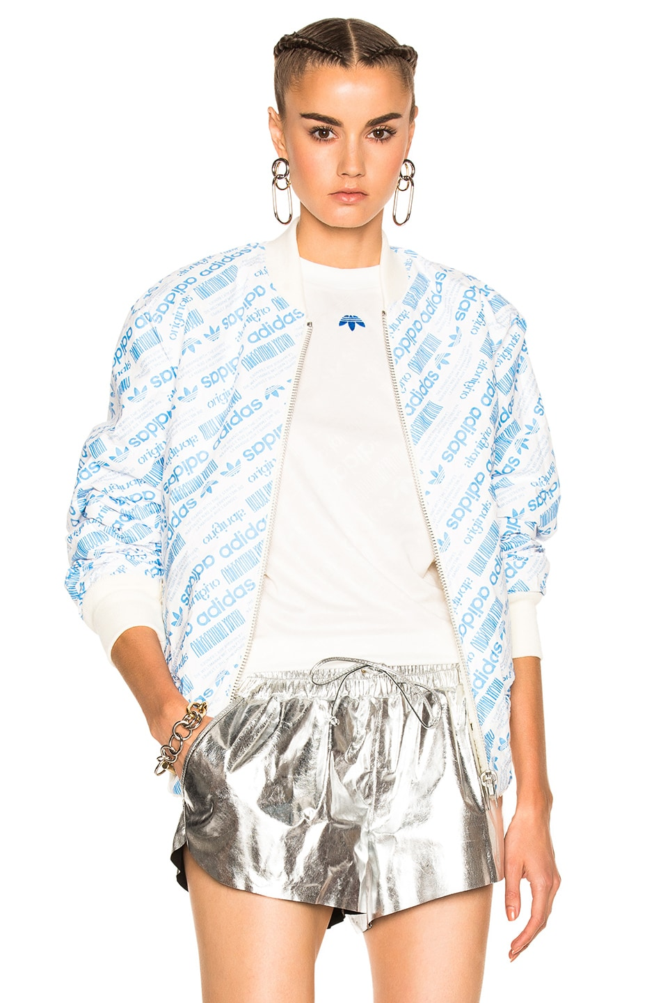 Image 1 of adidas by Alexander Wang Reversible Bomber in Cream White