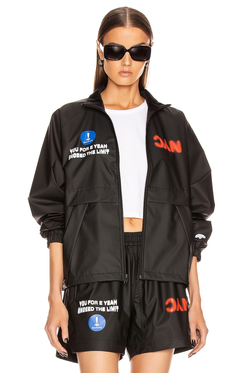 Image 1 of adidas by Alexander Wang Track Jacket in Black