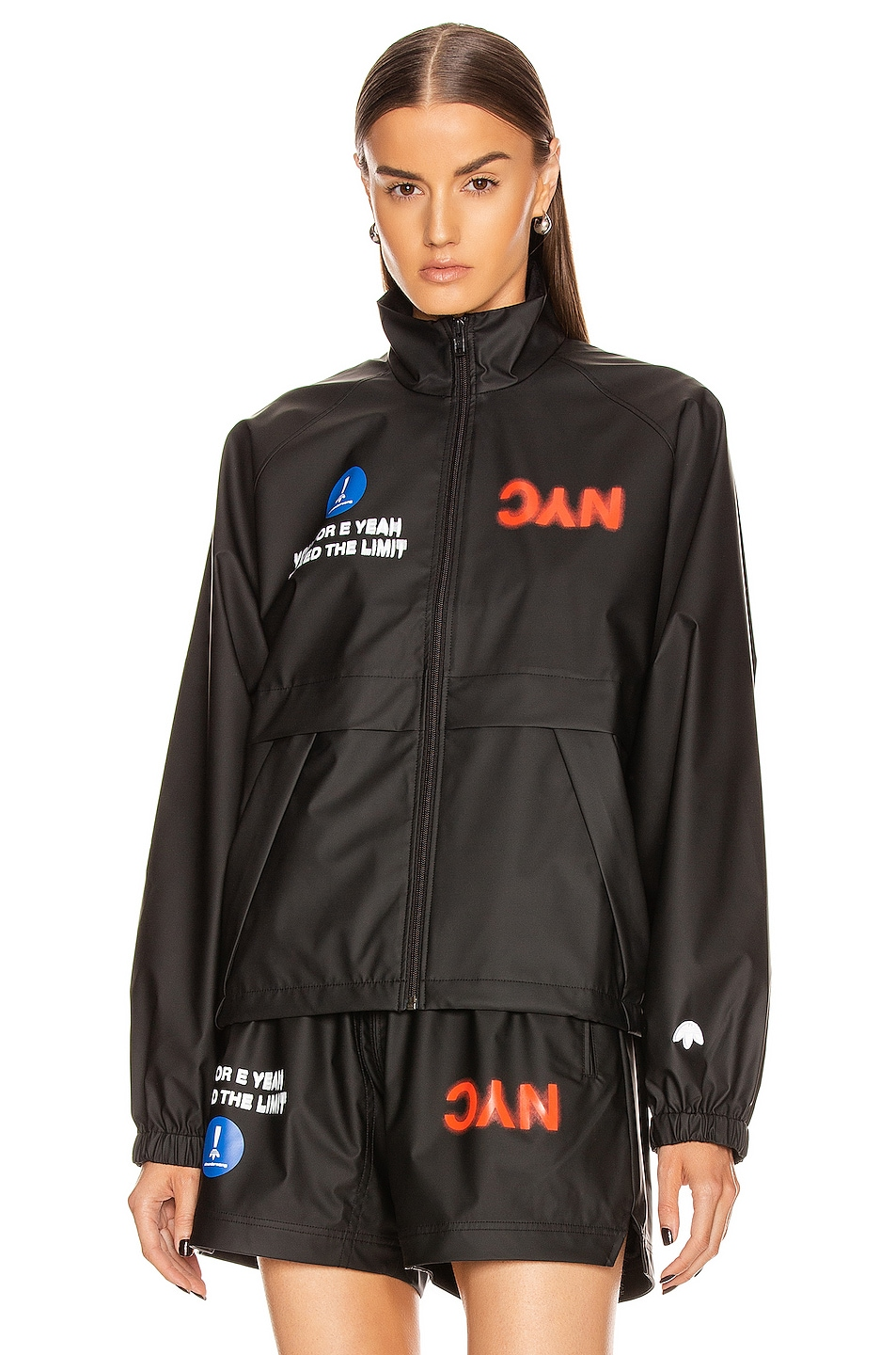 Image 2 of adidas by Alexander Wang Track Jacket in Black
