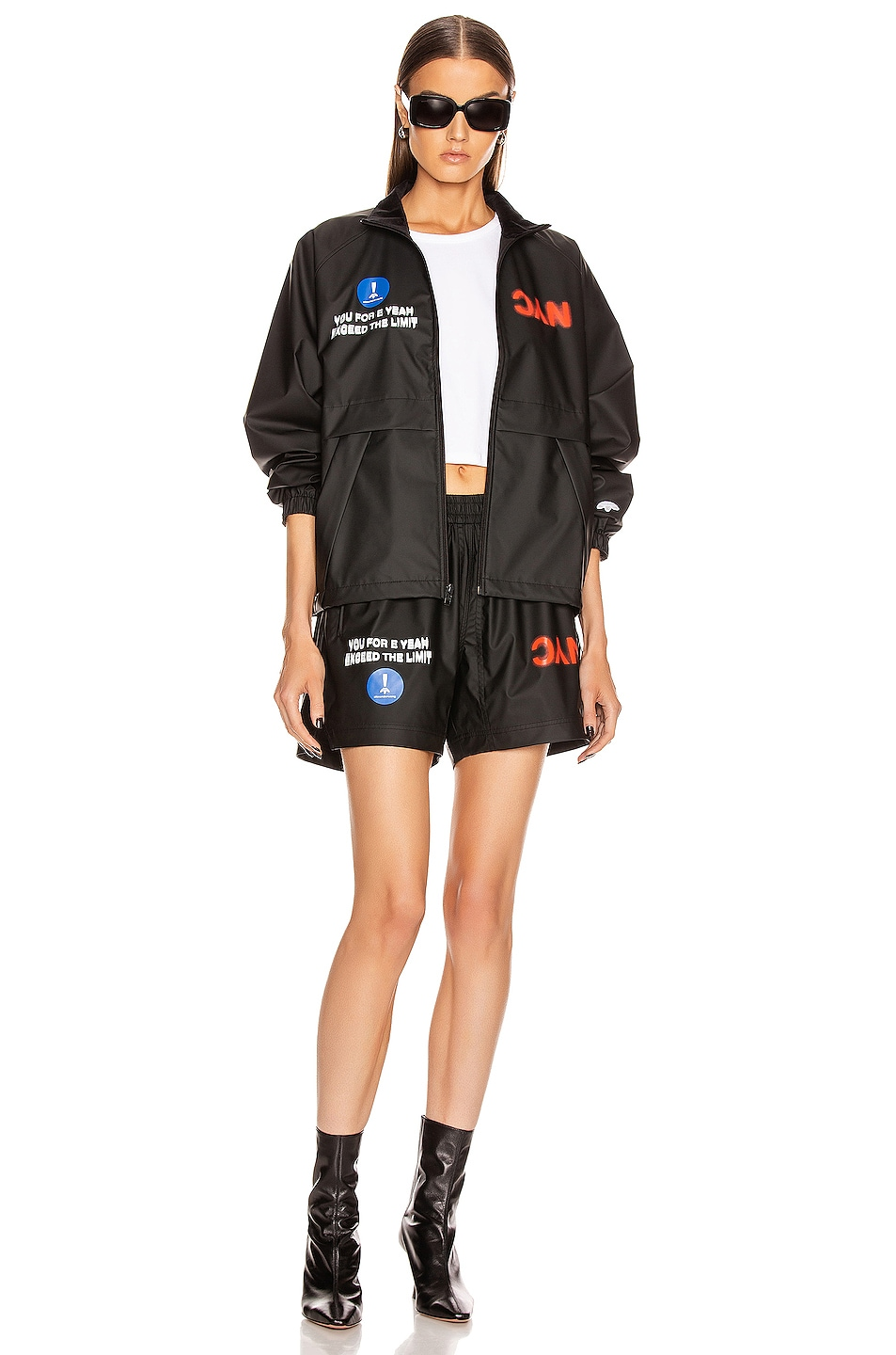 Image 6 of adidas by Alexander Wang Track Jacket in Black