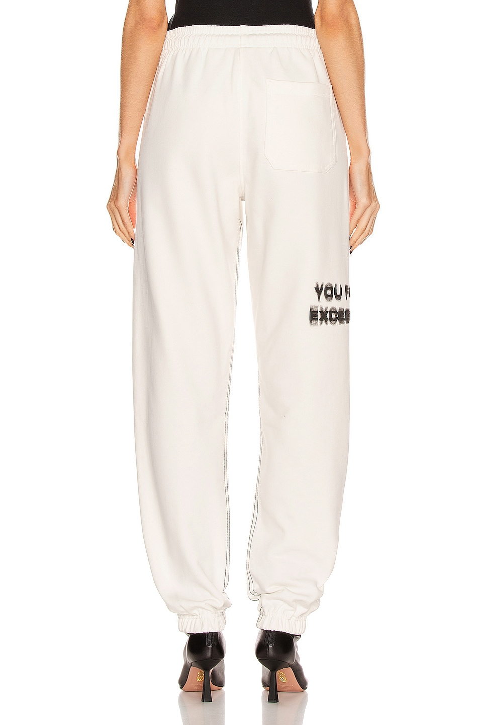 Image 4 of adidas by Alexander Wang Graphic Joggers in Core White