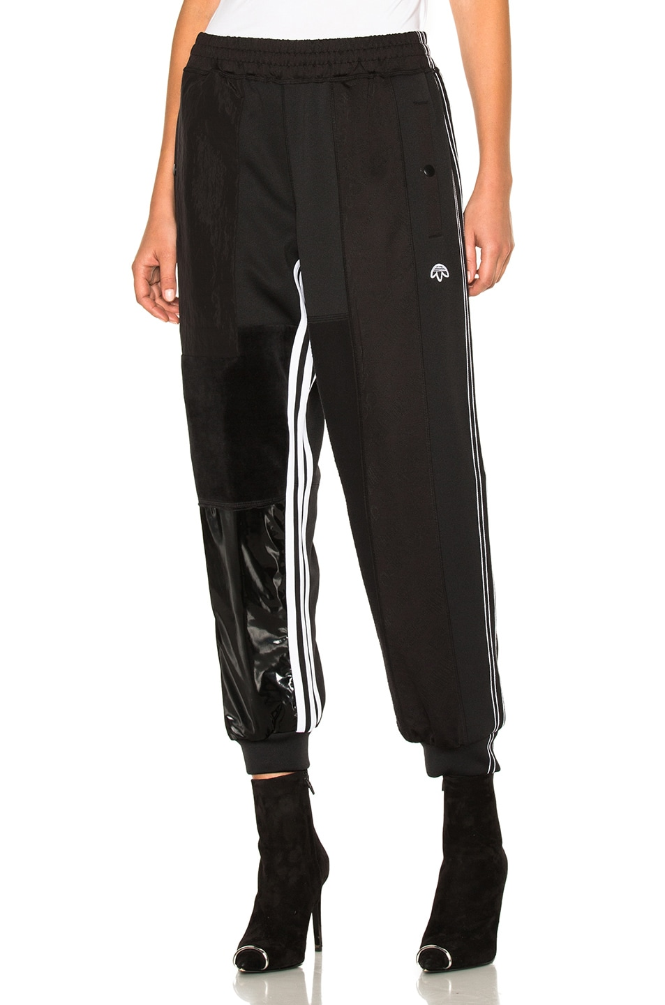 079c050191a9 Image 1 of adidas by Alexander Wang Patch Track Pants in Black
