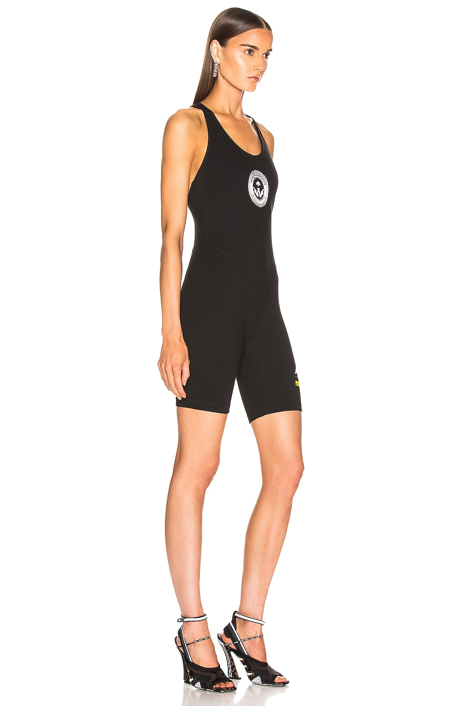 Image 2 of adidas by Alexander Wang 80s Body Romper in Black
