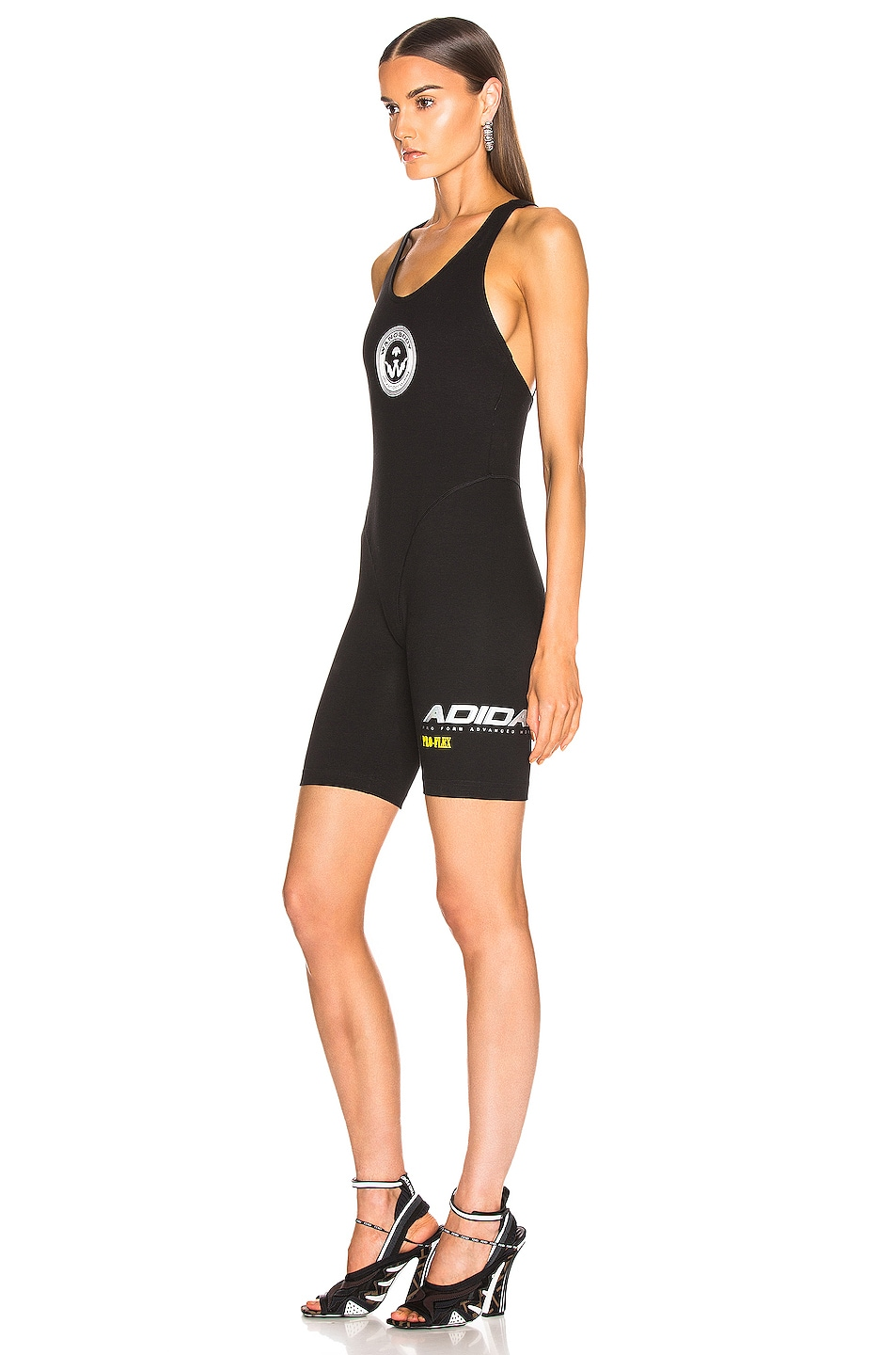 Image 3 of adidas by Alexander Wang 80s Body Romper in Black