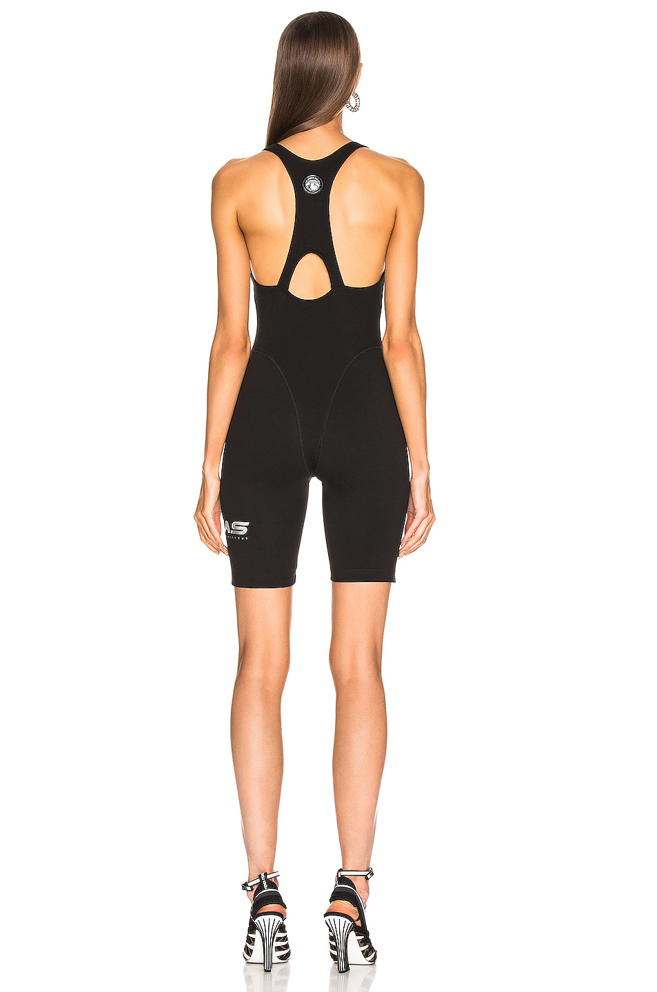 Image 4 of adidas by Alexander Wang 80s Body Romper in Black