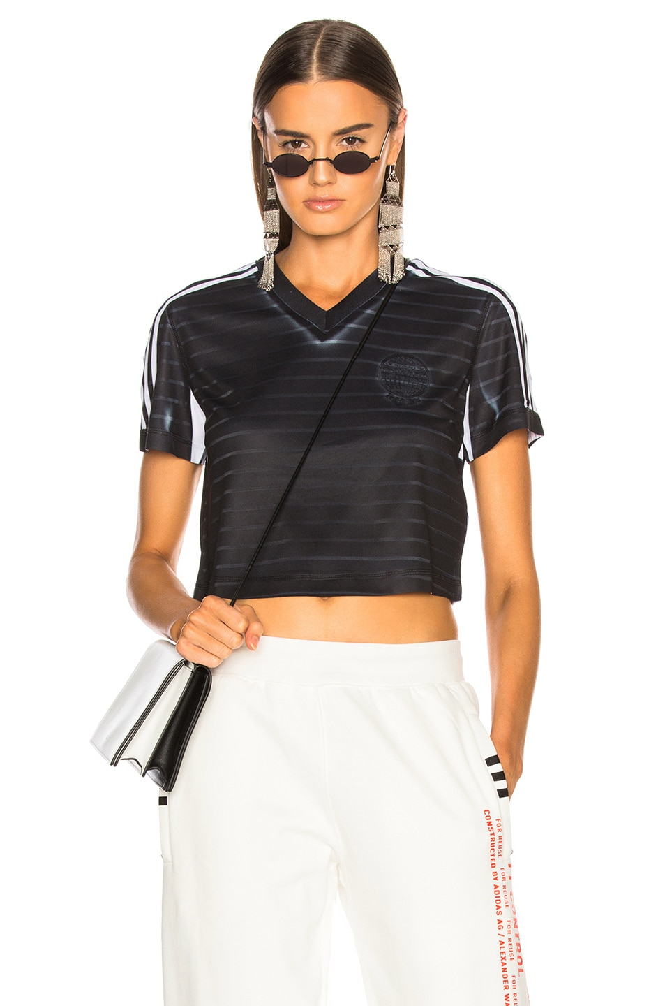 1f50c4a7eb290 Image 1 of adidas by Alexander Wang Crop Top in Black