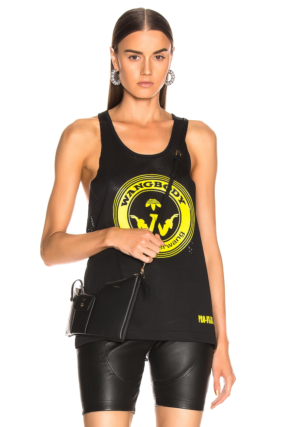 Image 1 of adidas by Alexander Wang Graphic Tank in Black
