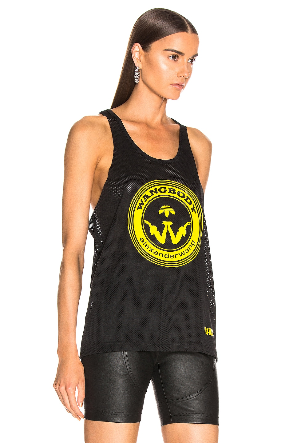 Image 2 of adidas by Alexander Wang Graphic Tank in Black