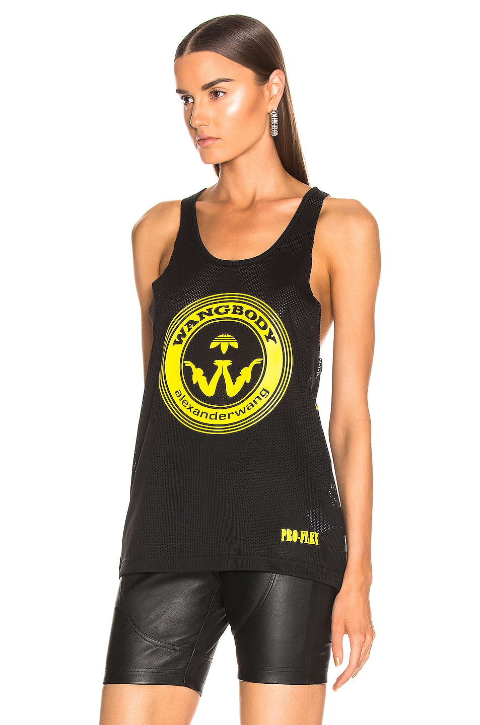 Image 3 of adidas by Alexander Wang Graphic Tank in Black