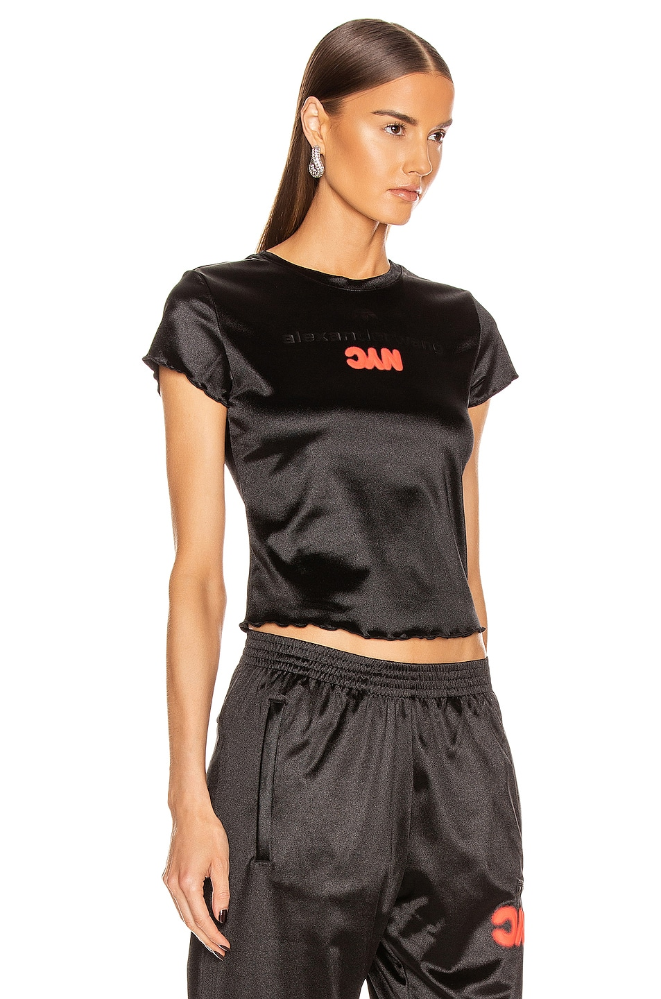 Image 2 of adidas by Alexander Wang AW Tee in Black