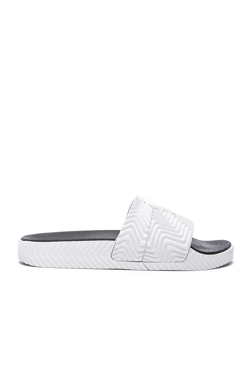 Image 1 of adidas by Alexander Wang Adilette Slides in White