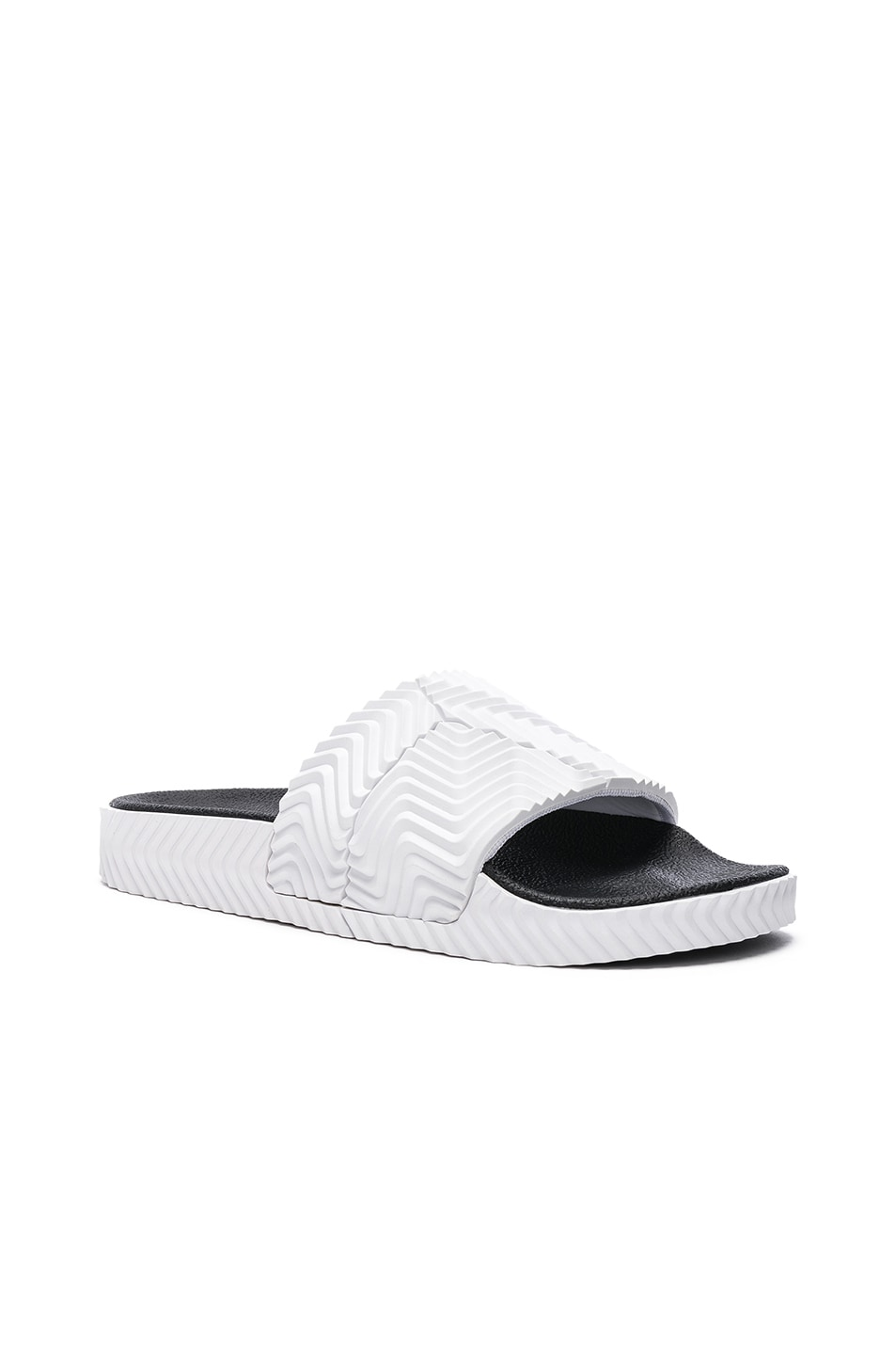 Image 2 of adidas by Alexander Wang Adilette Slides in White