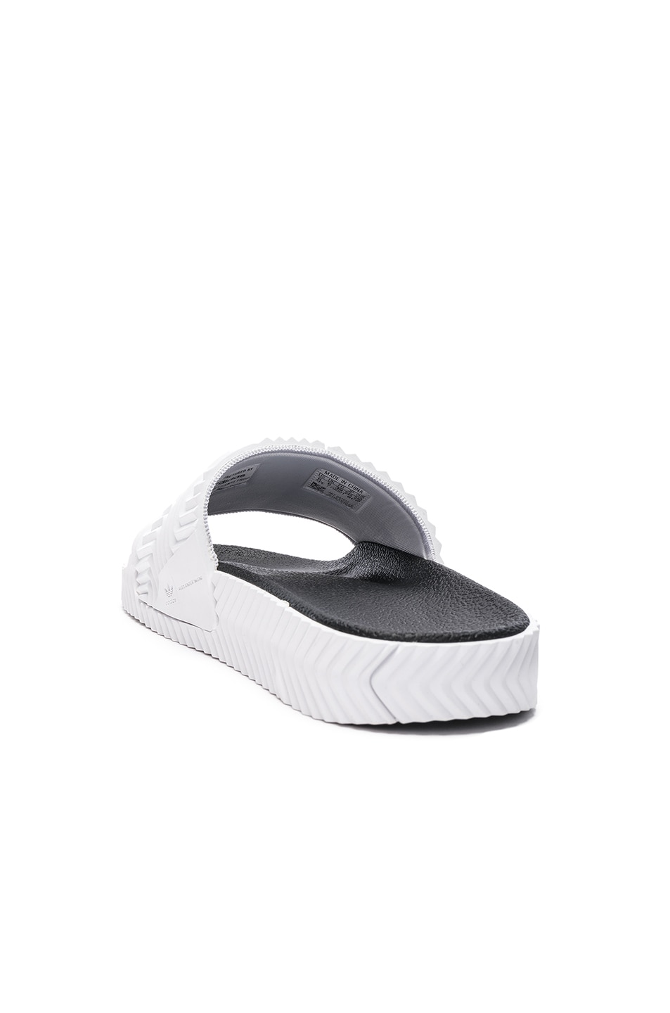 Image 3 of adidas by Alexander Wang Adilette Slides in White