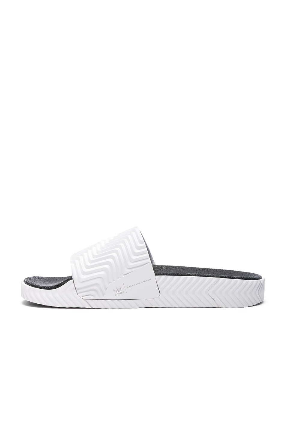 Image 5 of adidas by Alexander Wang Adilette Slides in White