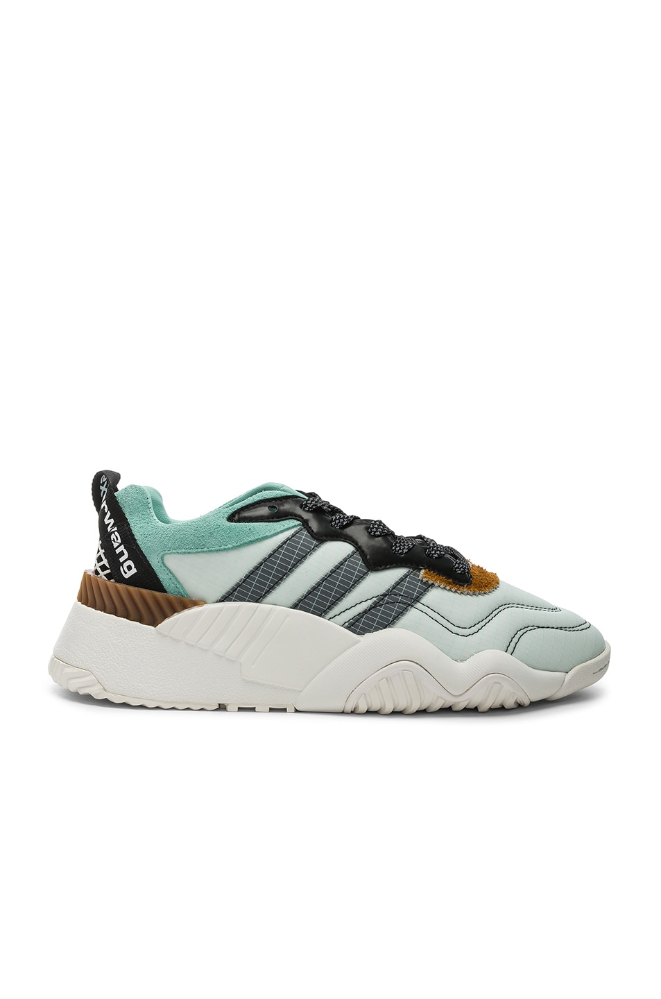 Image 1 of adidas by Alexander Wang Turnout Trainer Sneaker in Clear Mint & Core Black