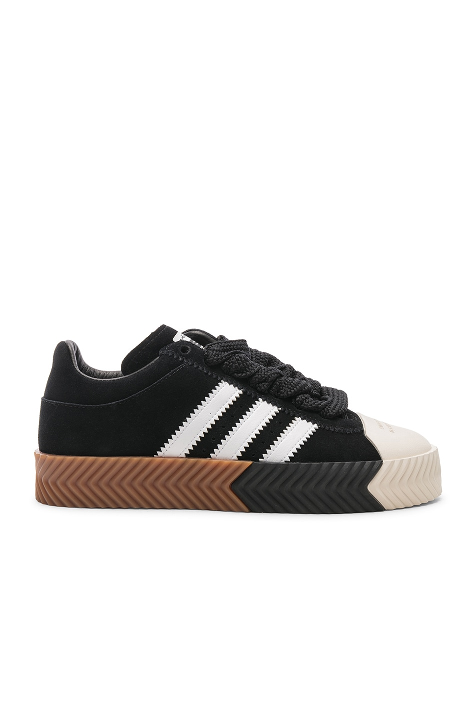official photos 12703 52bfb Image 1 of adidas by Alexander Wang Skate Super Sneaker in Core Black   White