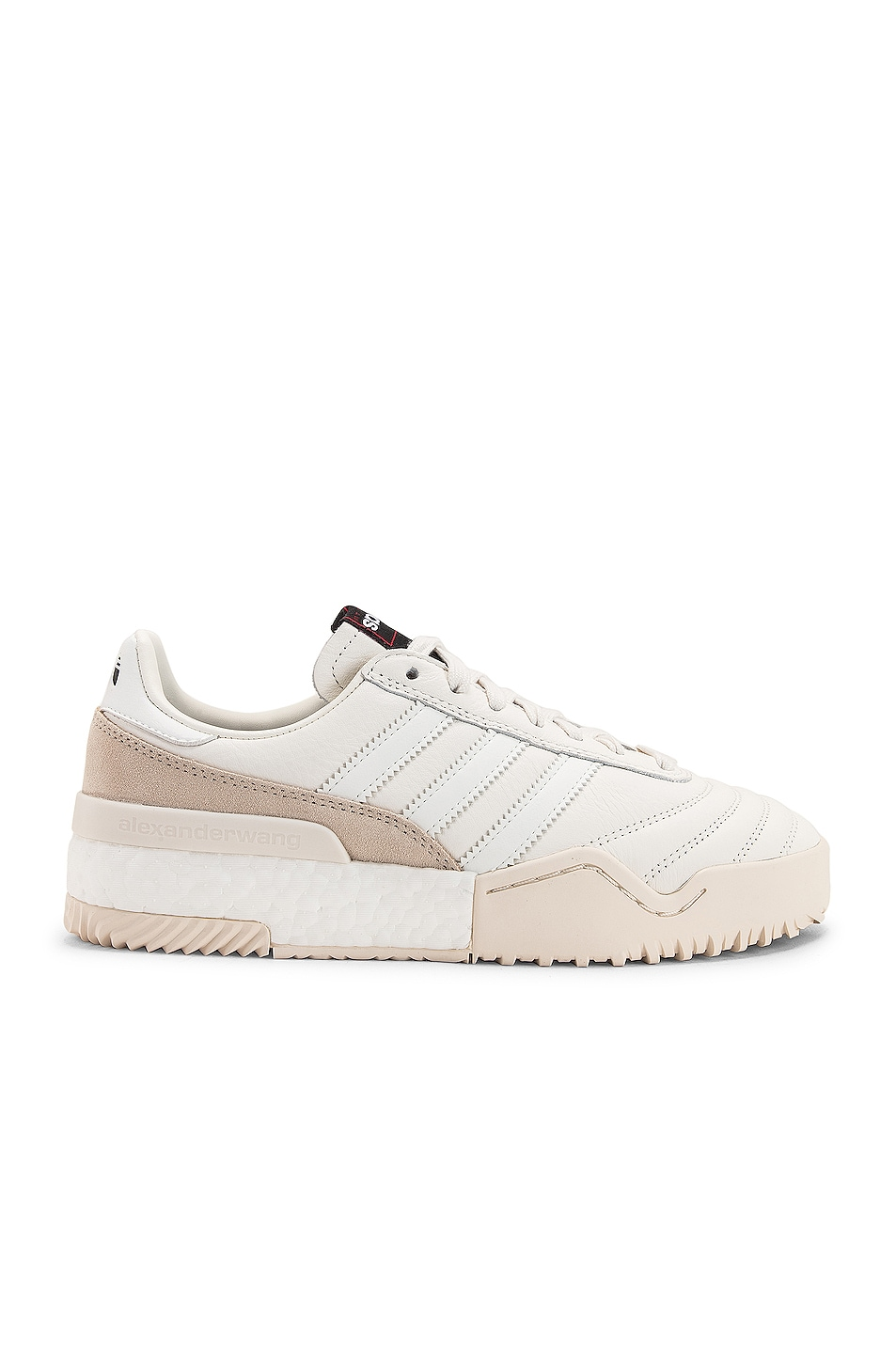 Image 1 of adidas by Alexander Wang Soccer Ball Sneaker in Core White & Chalk Pearl