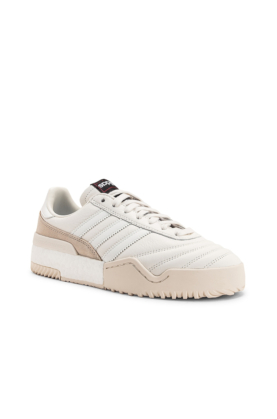 Image 2 of adidas by Alexander Wang Soccer Ball Sneaker in Core White & Chalk Pearl