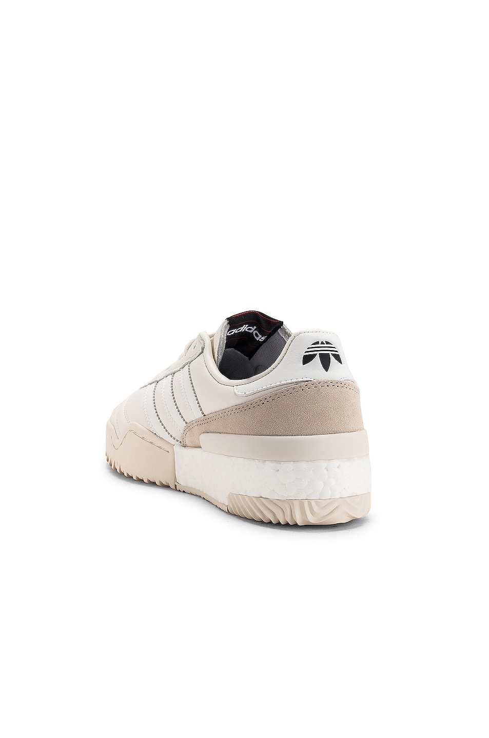 Image 3 of adidas by Alexander Wang Soccer Ball Sneaker in Core White & Chalk Pearl